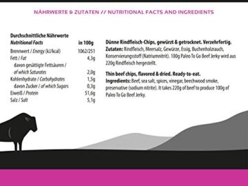 Beef Jerky Original - Paleo To Go - 100% irisches Weiderind - luftgetrocknetes Rindfleisch (4 x 30 g) -