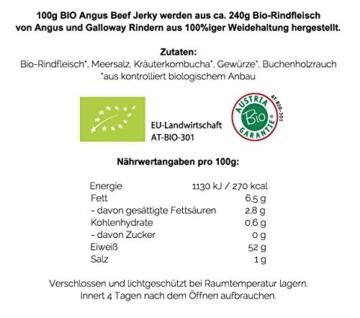 Paleo To Go - BIO Angus Beef Jerky (Protein-Snack) - grasgefüttertes Weiderind aus ÖSTERREICH (5 x 40g) -
