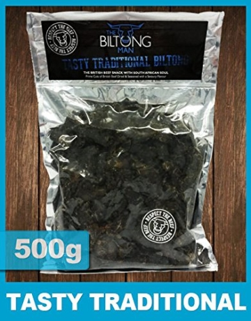 The Biltong Man Leckere traditionelle Biltong (500g) -