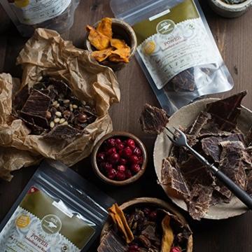 Trockenfleisch / Beef Jerky Power Natur (60g) von eat Performance (Bio, Paleo, vom grasgefütterten Weide-Rind, natürliche Proteinquelle, low carb, superfood) -